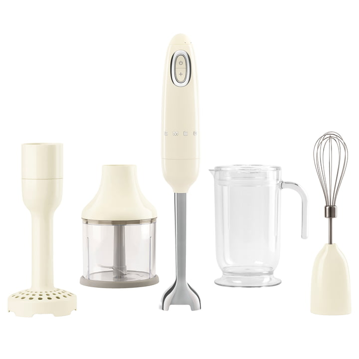Hand blender HBF02 in cream by Smeg