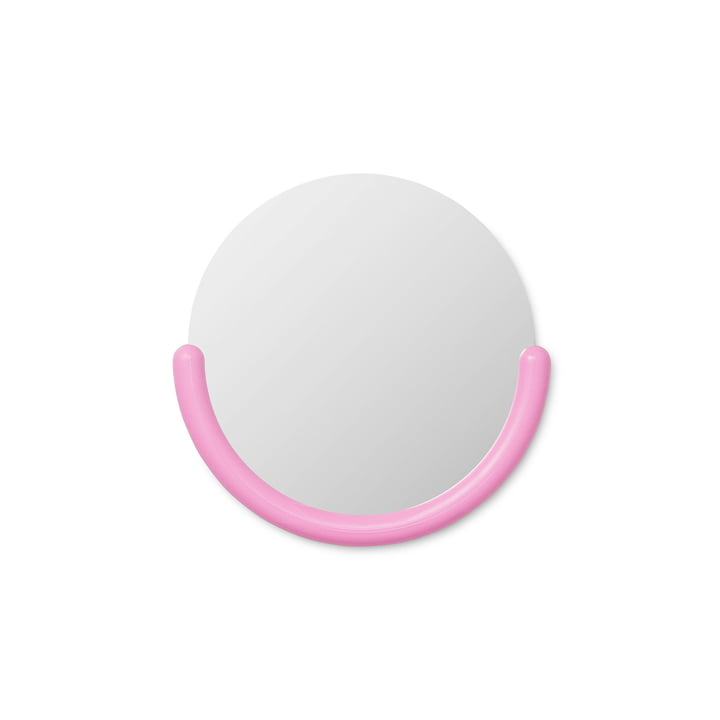 Bogin wall mirror small in pink by Normann Copenhagen