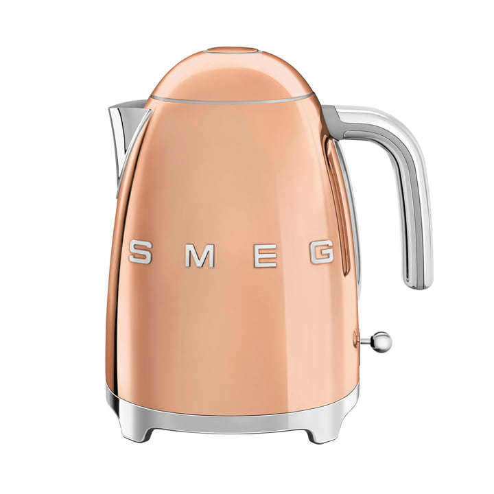 Kettle 1,7 l (KLF03) in pink gold by Smeg