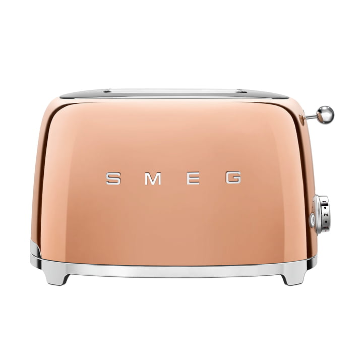 2-Slices Toaster TSF01 in pink gold by Smeg