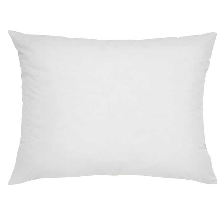 Cushion filling microfibre 60 x 45 cm in white by Mika Barr