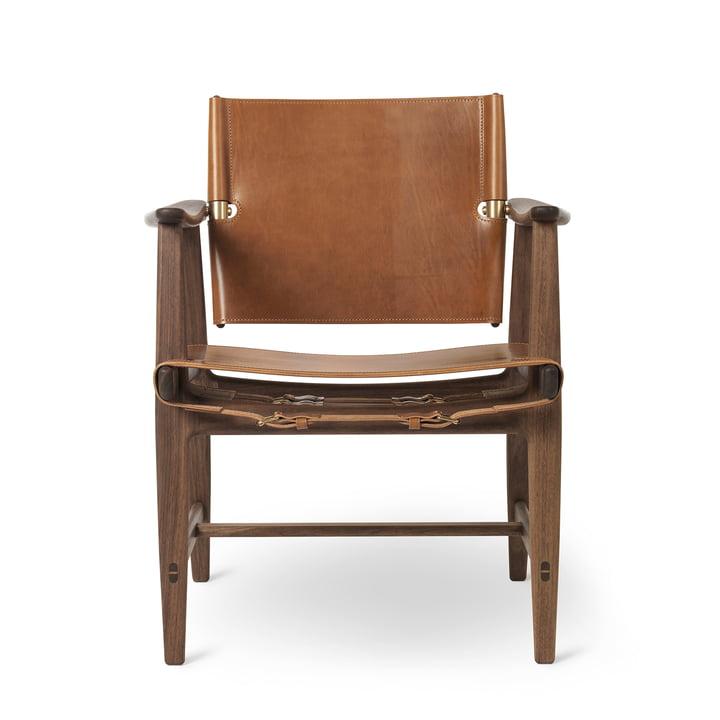 BM1160 Huntsman Chair, Walnut oiled / Saddle leather cognac (brass fittings) by Carl Hansen