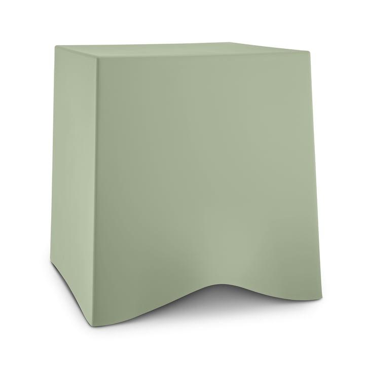 Briq stool from Koziol in eucalyptus green