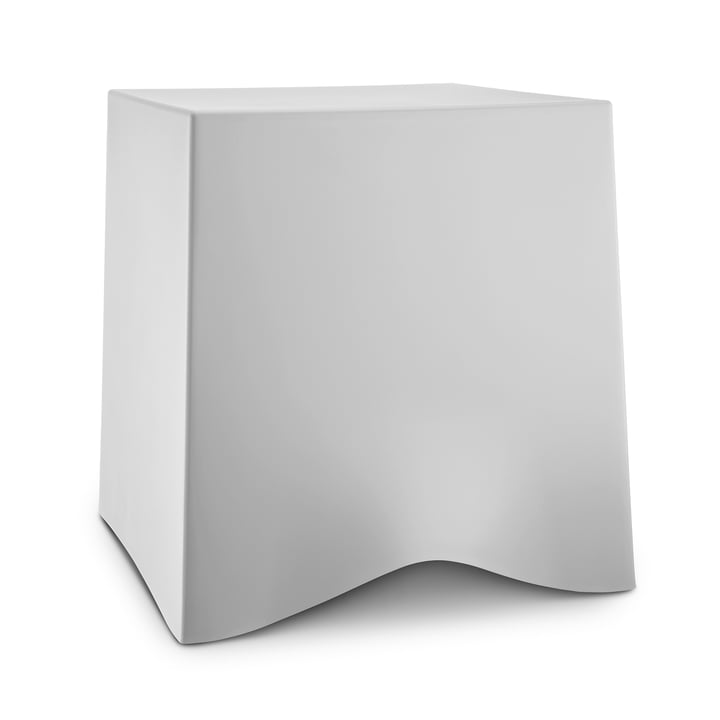 Briq stool from Koziol in soft grey