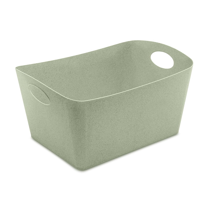 Boxxx L Storage box in organic green from Koziol