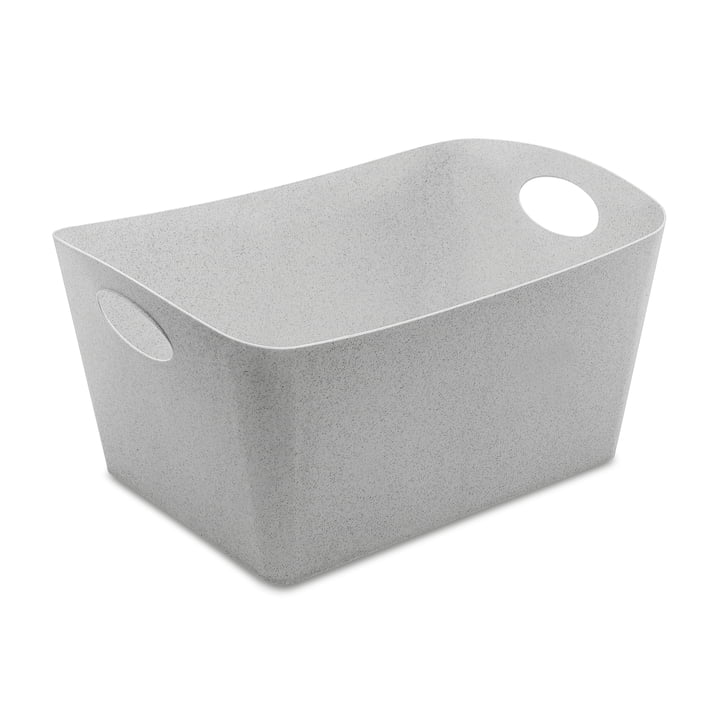 Boxxx L Storage box in organic grey by Koziol
