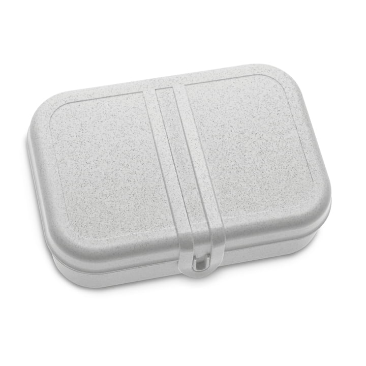 Pascal Lunchbox with divider, organic grey by Koziol