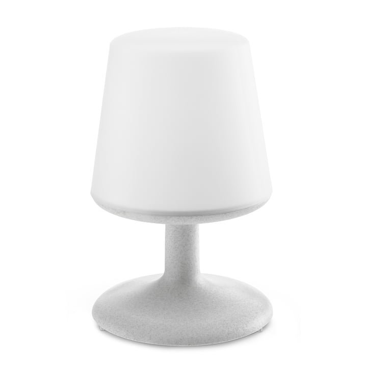 Light to go cordless table lamp in organic grey by Koziol