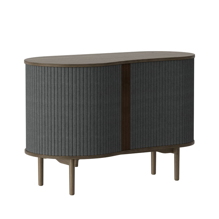 Audacious chest of drawers from Umage in dark oak / slate grey