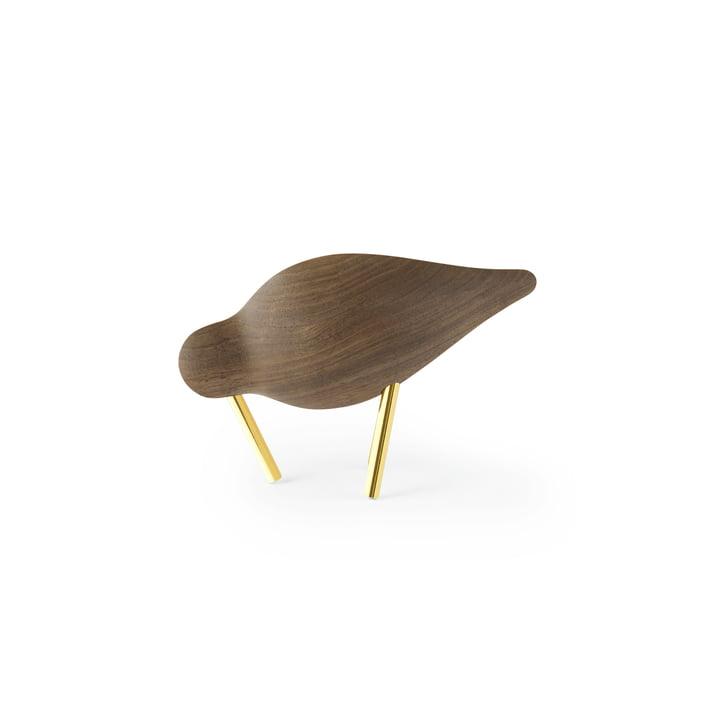 Shorebird small, walnut / brass by Normann Copenhagen