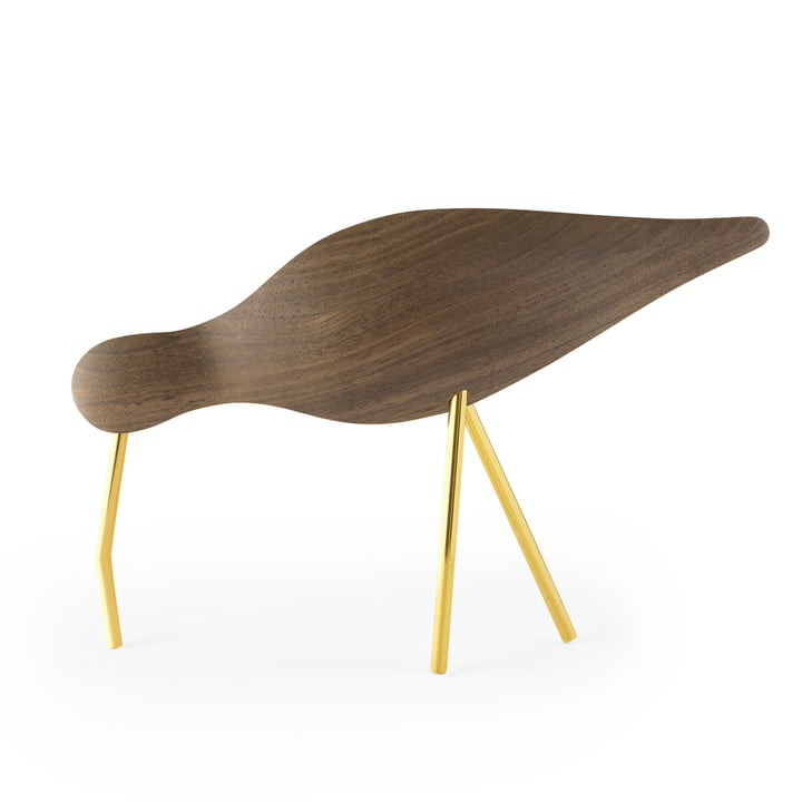 Shorebird large in walnut / brass by Normann Copenhagen