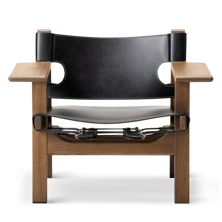 Fredericia - Spanish Chair, Oak smoked and oiled / Leather s