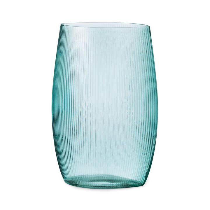 Tide Vase H 28 cm in blue by Normann Copenhagen