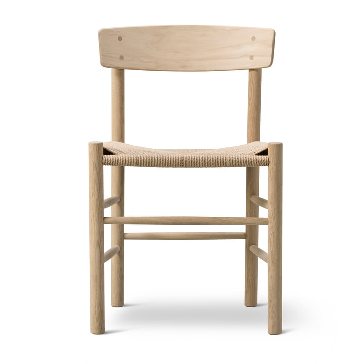 J39 Mogensen chair in oak soaped / string weave nature by Fredericia