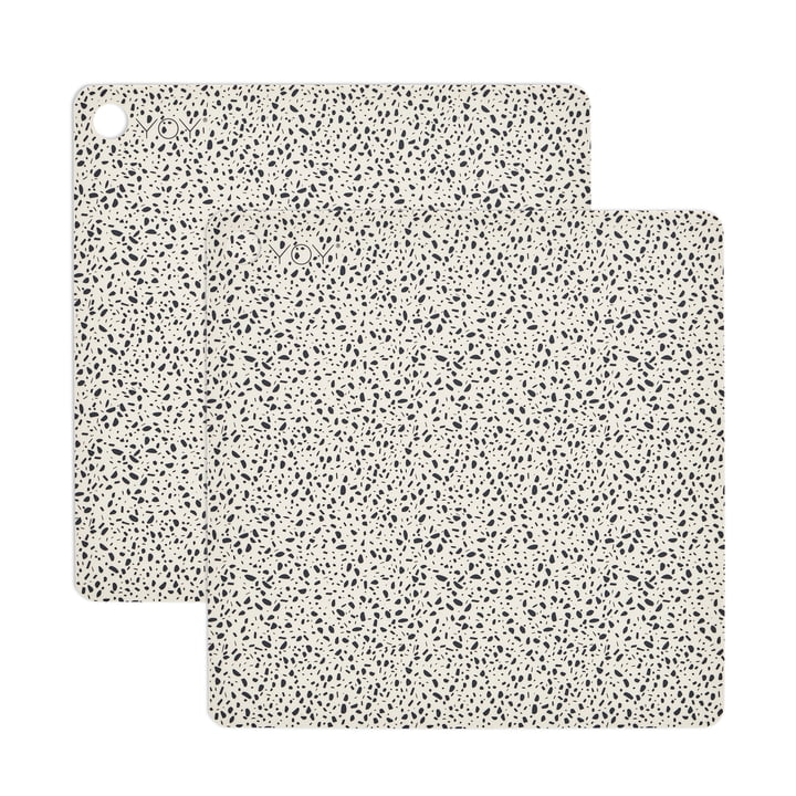 Table set Terrazzo, 38 x 38 cm in white (set of 2) by OYOY