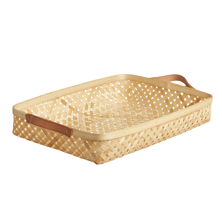 Sporta storage basket, 42 x 28 cm in bamboo nature by OYOY