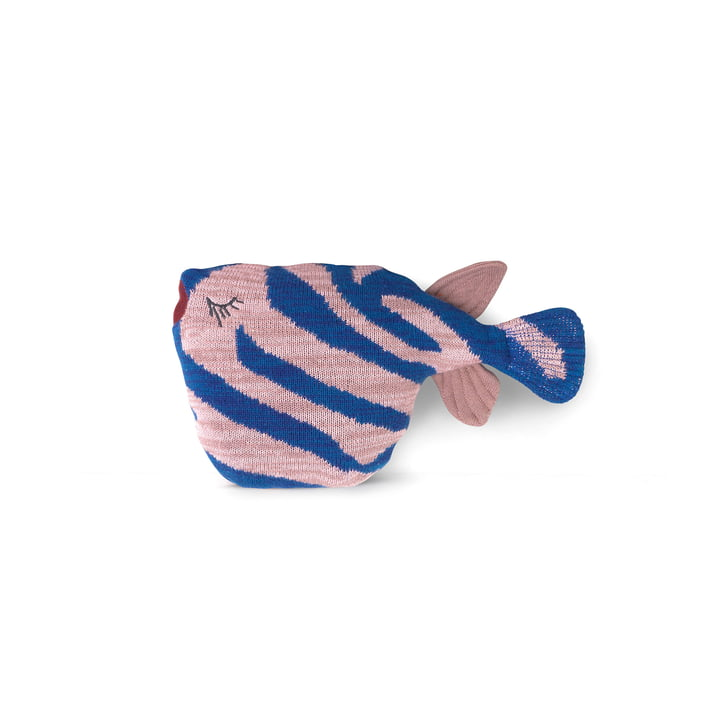Fruiticana Cushion Tiger Fish, blue / pink by ferm Living