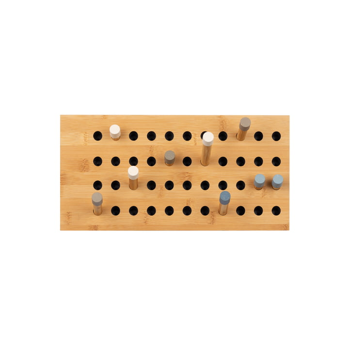 Scoreboard Coat rack small horizontal from We Do Wood in natural bamboo