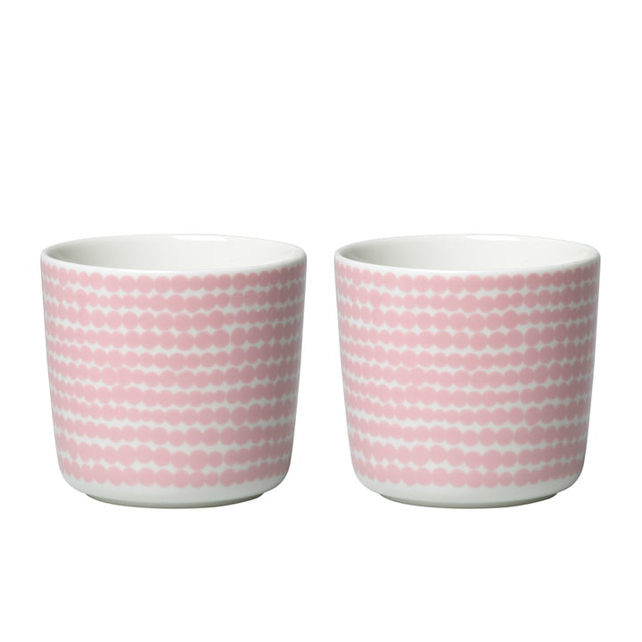 Oiva Siirtolapuutarha cup (set of 2) 200 ml from Marimekko in white / pink