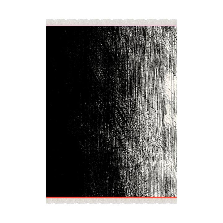 Kuiskaus blanket 140 x 180 cm from Marimekko in black / white / red