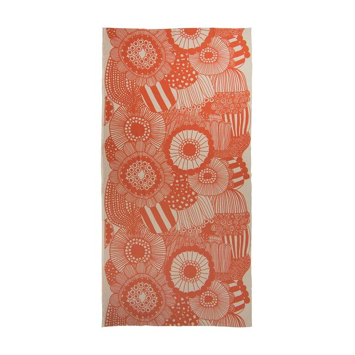Siirtolapuutarha tablecloth 140 x 280 cm from Marimekko in orange / beige
