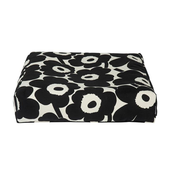 Pieni Unikko floor cushion, black / off white by Marimekko