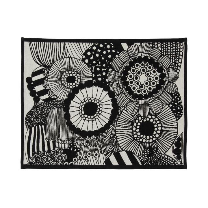 Pieni Siirtolapuutarha placemat 31 x 42 cm from Marimekko in off-white / black
