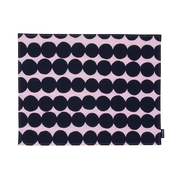 Räsymatto placemat by Marimekko in pink / dark blue