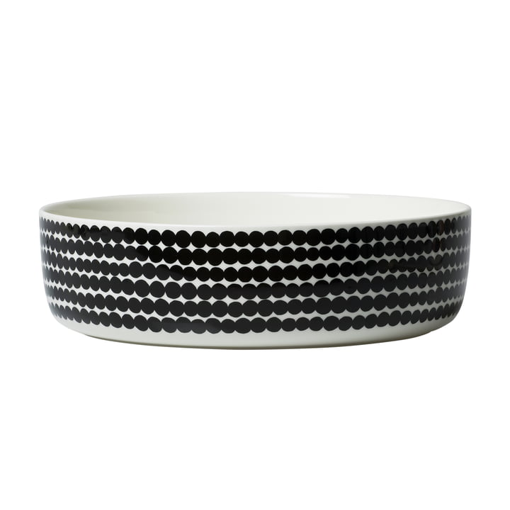 Oiva Räsymatto bowl 3 l from Marimekko in white / black