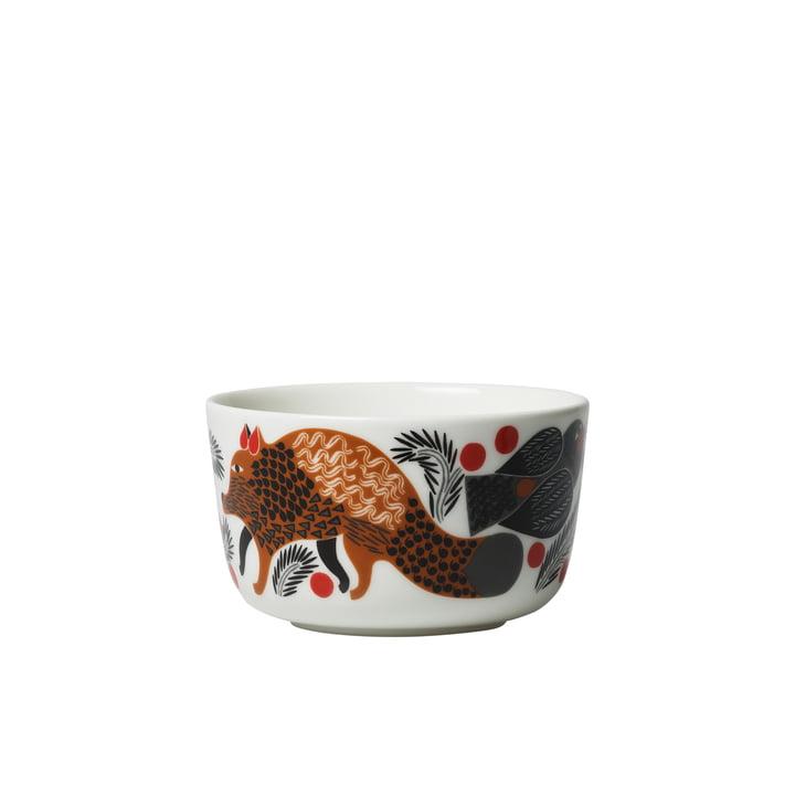 Oiva Ketunmarja bowl 250 ml by Marimekko in white / brown / black