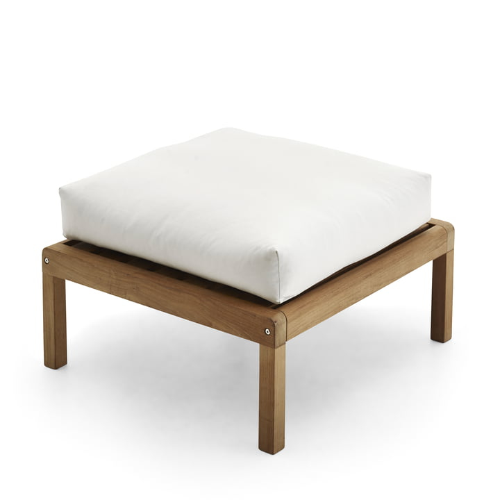 Virkelyst Pouf from Skagerak in teak / white