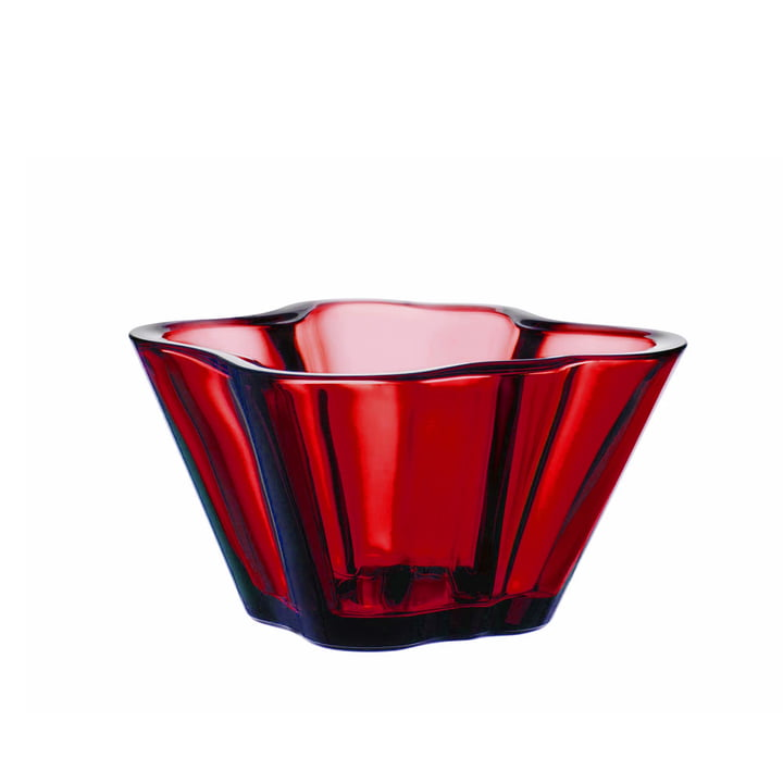 Aalto bowl 75 mm from Iittala in cranberry