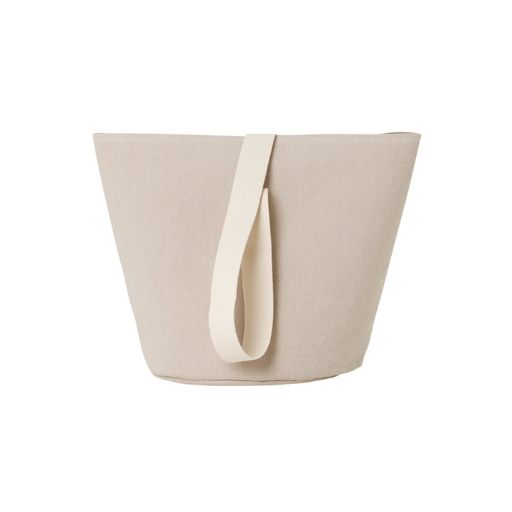 Chambray Basket Medium from ferm Living in sand