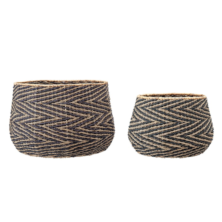 Seagrass basket (set of 2) from Bloomingville
