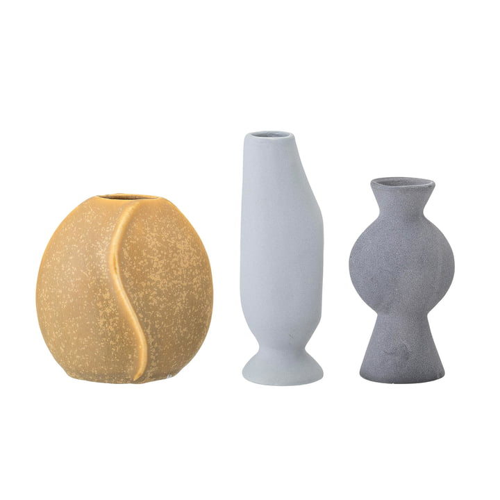 Earthenware Vase from Bloomingville in multi-color (Set of 3)