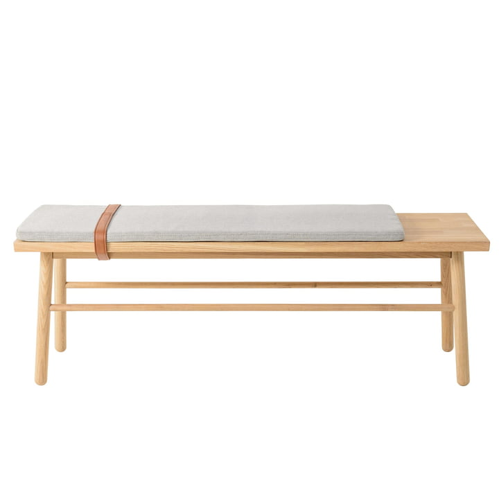 Straight bench of Bloomingville in oak / grey