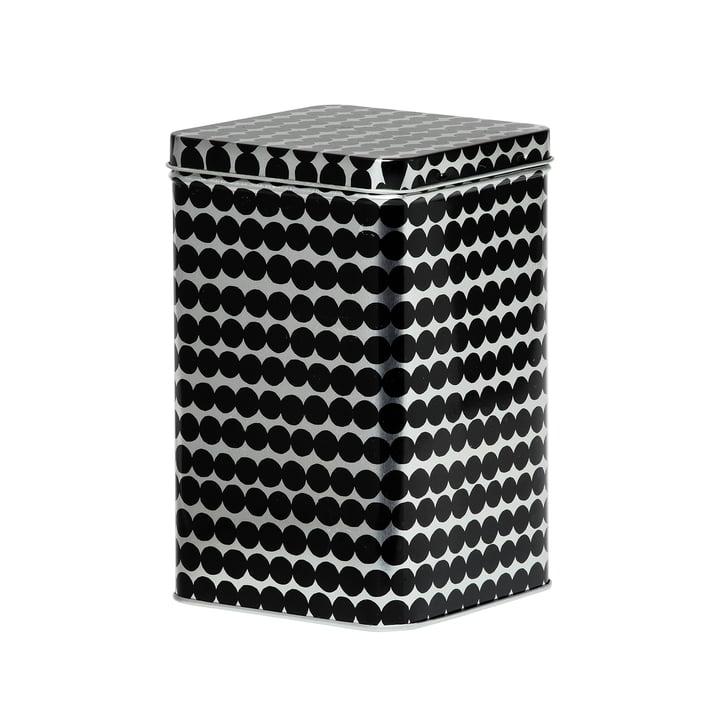 Räsymatto storage box H 17,5 cm from Marimekko in black / grey
