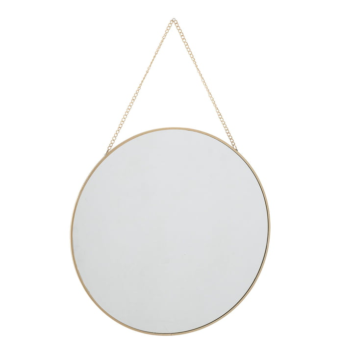 Wall mirror with chain suspension Ø 38 cm from Bloomingville in gold