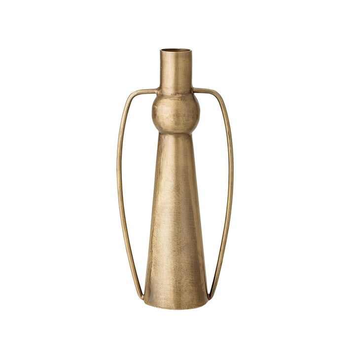Vase with handles H 20 cm from Bloomingville in brass