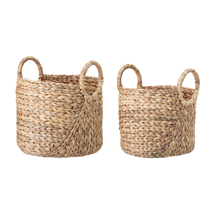 Storage basket set of 2 from Bloomingville made of water hyacinth