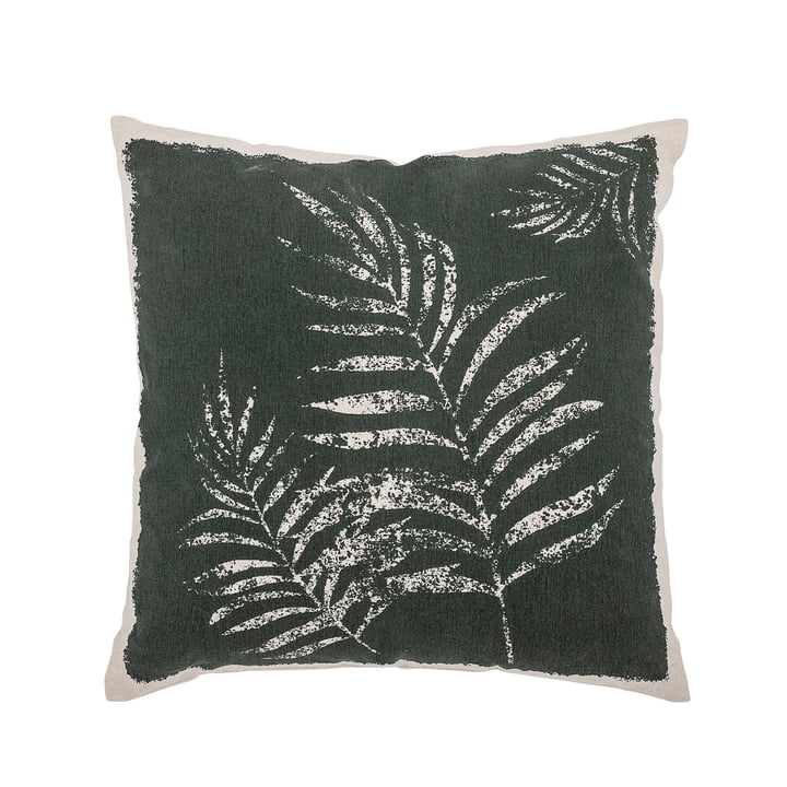 Cotton cushion with leaf design 45 x 45 cm from Bloomingville in green