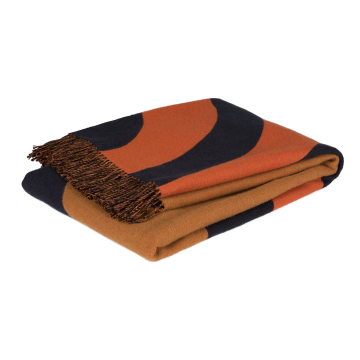Keisarinkruunu rug 130 x 170 cm from Marimekko in brown / black / orange