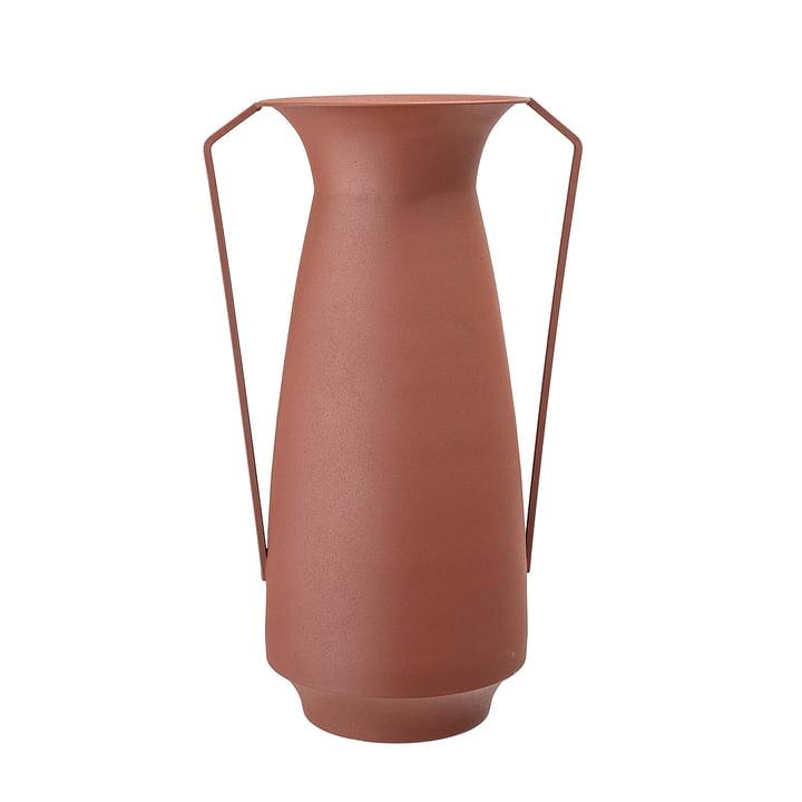 Metal vase with handles Ø 18 x H 40 cm from Bloomingville in brown