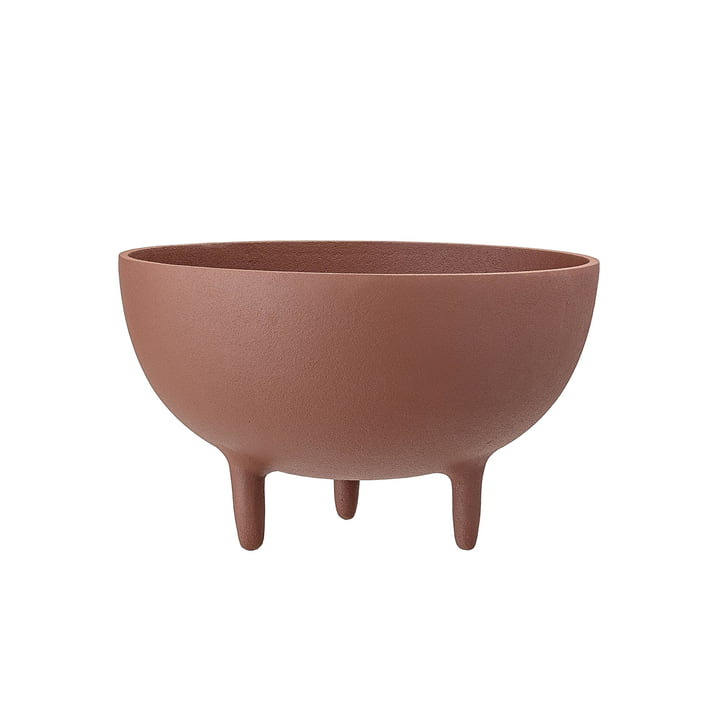 bowl with feet Ø 23 x H 14 cm from Bloomingville in brown