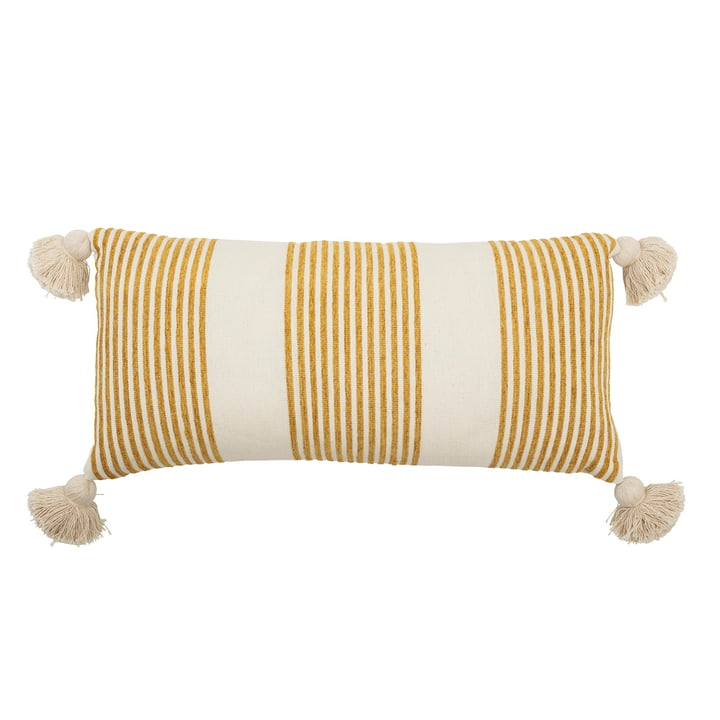 Pillow with tassels 70 x 35 cm from Bloomingville in yellow