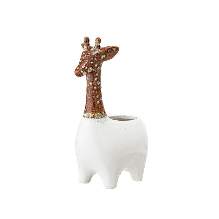 Earthenware Planter Giraffe of Bloomingville in brown / white
