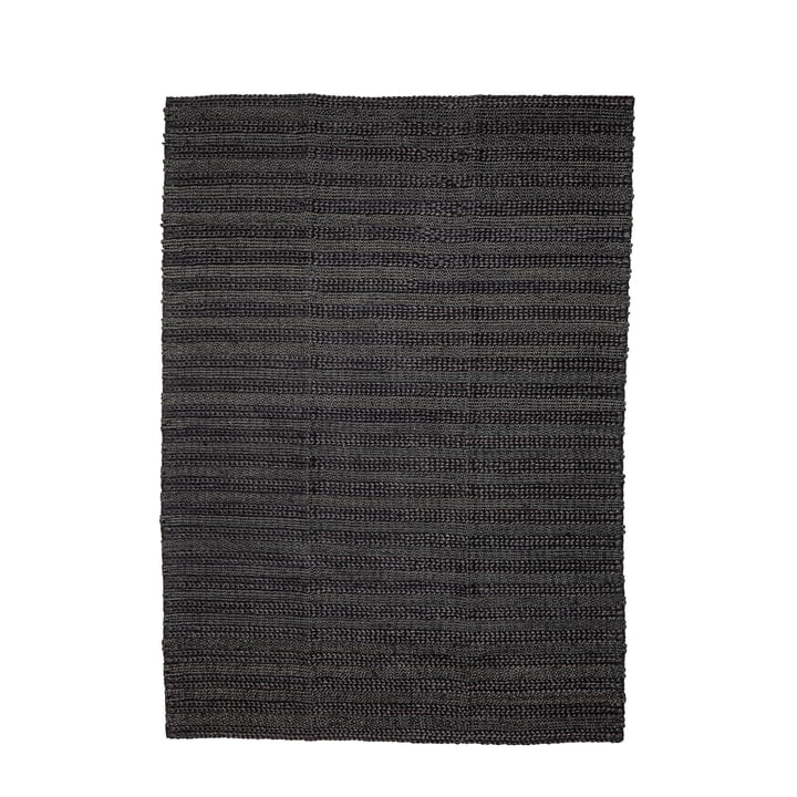 Natural fiber carpet 210 x 150 cm from Bloomingville in black