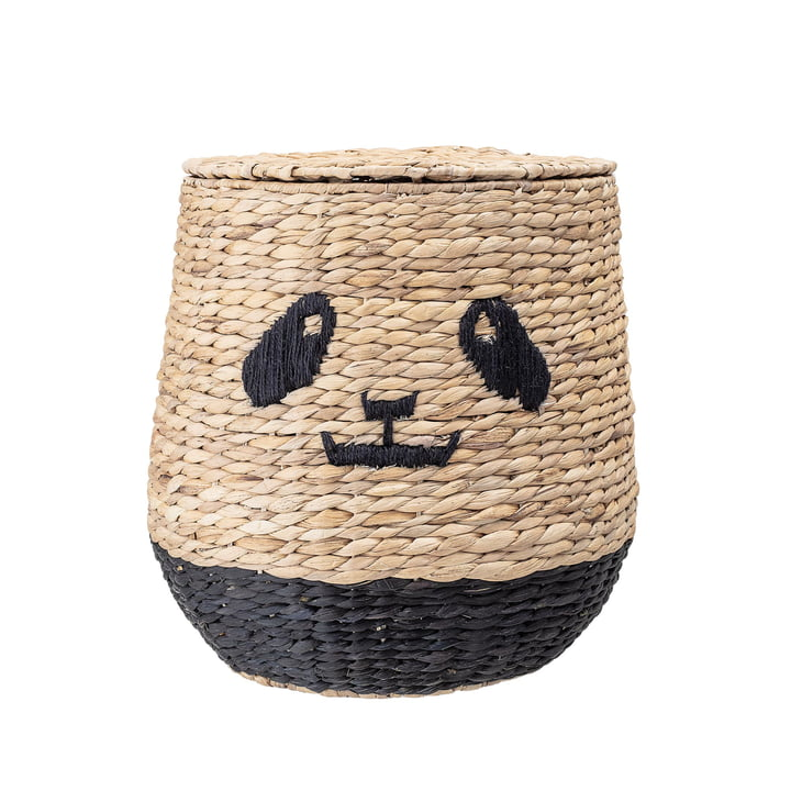 Panda storage basket with lid from Bloomingville