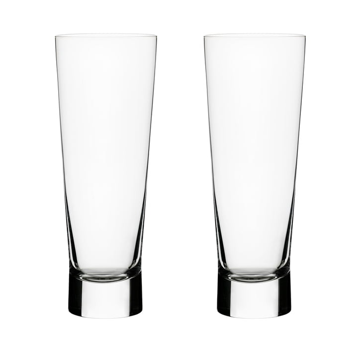 Aarne beer glass 38 cl (set of 2) from Iittala