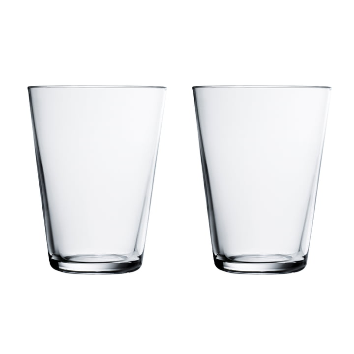 Kartio Drinking glass 40 cl (set of 2) from Iittala in clear